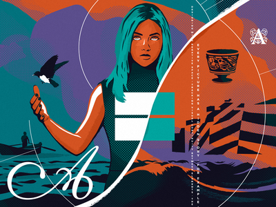 Invisible Concepts in Design sea fisherman bird ship woman cover blog design invisible editorial illustration