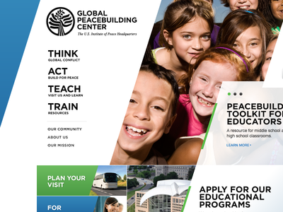 Global Peacebuilding Center ui ux user experience information architecture ia website interactive interaction global peace peacebuilding usip teach teaching train educational washington