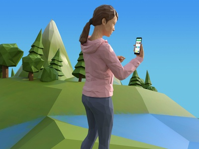 World of Google Play interactive 3dmodeling animation low poly