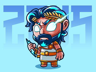 Zeus carricature design art illustration fanart chibi characterdesign cartoon