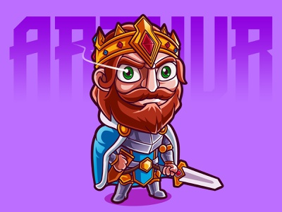 King Arthur Cartoon illustration fanart chibi characterdesign cartoon