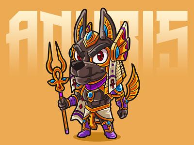 Anubis gods egyptian design art illustration fanart chibi characterdesign cartoon