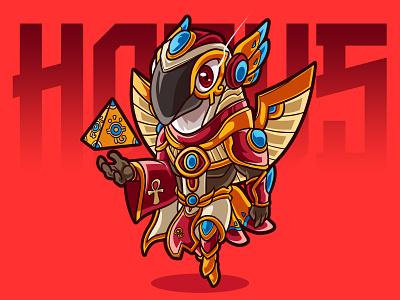 Horus gods carricature digitalart design art illustration fanart chibi characterdesign cartoon