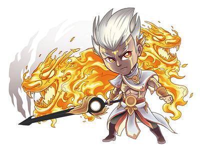 Agni the Over Fire characterdesign chibi cartoon