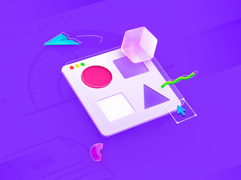 Isometric illustration 2.5d icon web design