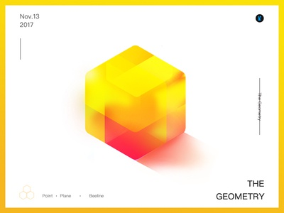 Cube geometry,cube,format color shapes rectangular,gradation