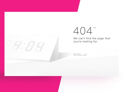404 Page illustration 404page error wood clock time