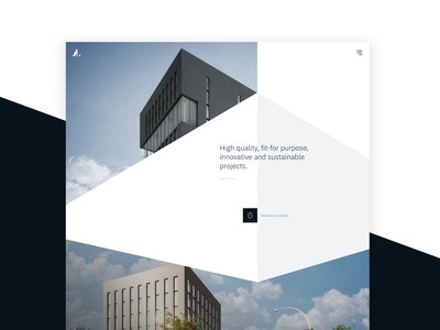 Vossemeren - UI design for corporate website scroll animation realestate uidesign