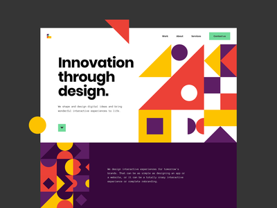 A brand new Superlab website! colorful geometric illustration uidesign