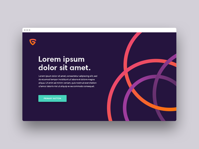 Branding and design system for a new company gradient circles shield design system branding