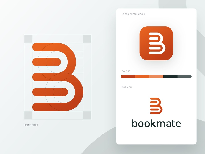 Bookmate - Brand design guides app icon icon gradient branding