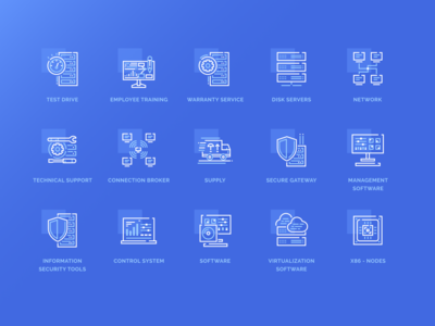 Icon Set for an IT company