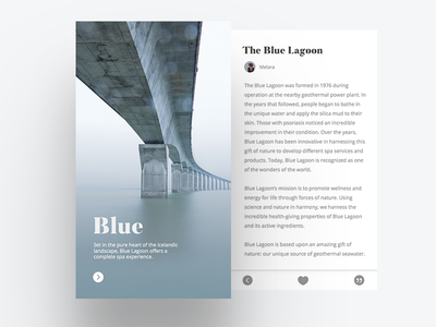 Blue Lagoon App Concept typography font lagoon water ux ui sans-serif serif nature minimal app