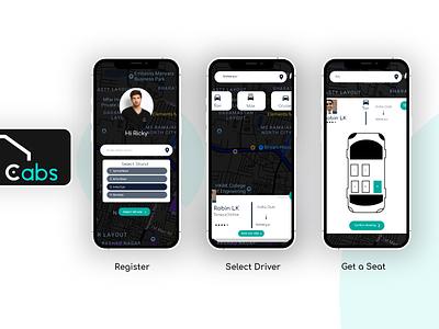 Cabs cab booking brand design adobexd interface ux ui app cabs uber ola car booking car app car