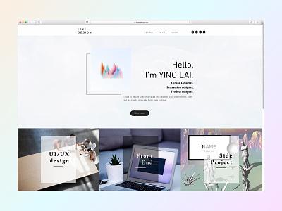 LINE Design 2018 Portfolio style gradient vaporwave resume ux ui portfolio 2018 design line