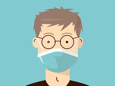 2020 so far 2020 hospital medic masks lockdown covid-19 medical illustration vector flat icon dribbble shot covid19 flu sick mask face mask isolation covid
