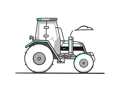 Farm life farming motor vehicle farmers market white black sketch farmers farmer grow tractor stroke illustration vector flat icon dribbble shot