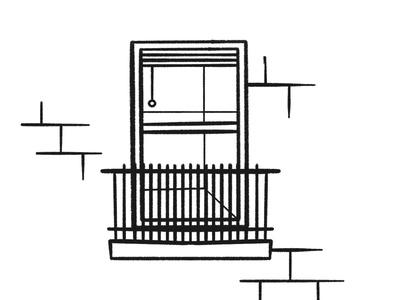 Window view lockdown outside lounge apartment street home scene view stroke illustration vector flat icon dribbble shot