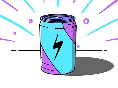 Energy hyper liquid drink color sketch energy drink sugar soda pop can stroke illustration vector flat icon dribbble shot