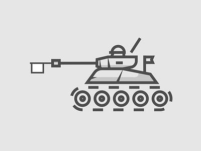 False threats weapons military peace army illustration flat icon war tank shot dribbble