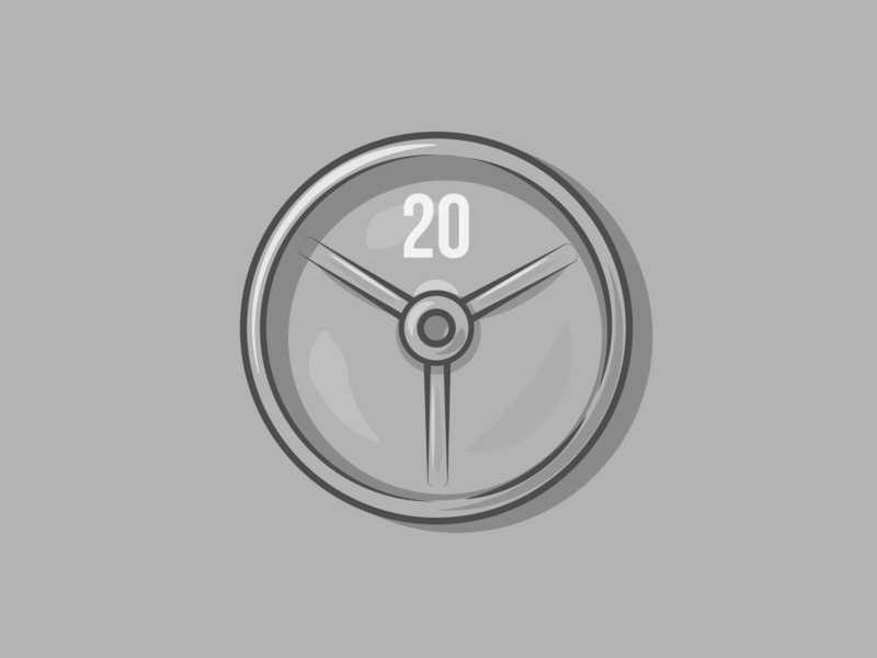 20kg strength power weight lifting gains lift health gym weights colour stroke vector illustration flat icon dribbble shot