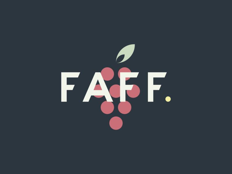 Faff. wine branding freelance wine bar fruit blog wine food brand type branding logo colour stroke vector illustration flat icon dribbble shot