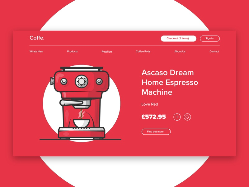 Coffe landing page