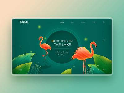 Flamingo landscape webpage