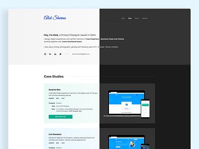 Personal Website Homepage dark web uxdesign product design portfolio website portfolio