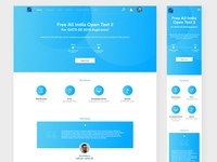 Open Test Landing Page