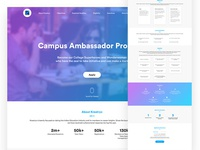 Campus Ambassador Program Landing Page