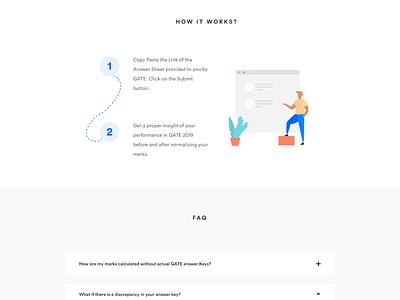 Process - Rank Predictor homepage vector illustration landing page web design