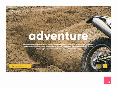 Next Adventure interaction motion design invisionstudio hero homepage slider animation motion web ux design ui