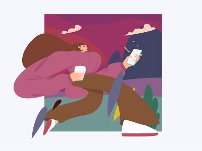 Teleport ux ui digital art creative animation vector design character illustration