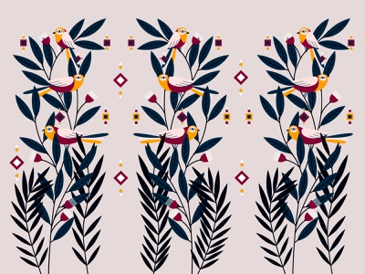 Birds pattern nature pattern creative ui illustration