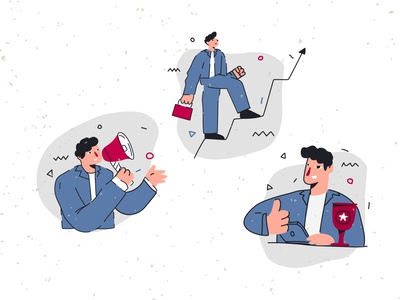 Doing business creative vector digital art branding ui design character illustration
