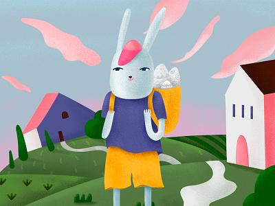 Easter character rabbit holliday design illustration