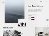 New portfolio site ~ always the hardest thing