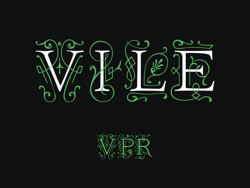Vile Public Relations (branding concepts) brand identity minimal typography logo branding