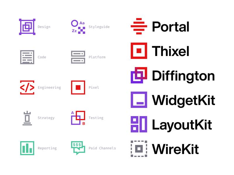 Internal tools & Icons minimal icons branding