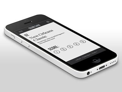 Food Scoring App food app ui typography monochrome minimal flat