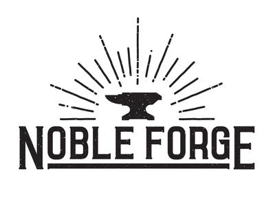 Noble Forge logo grit