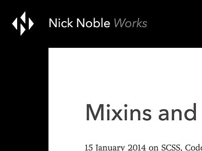 A taste of my new blog layout header blog minimal monochrome