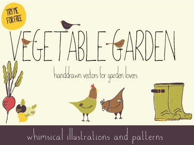 Vegetable Garden Graphic Sample by Sarah Price Dribbble