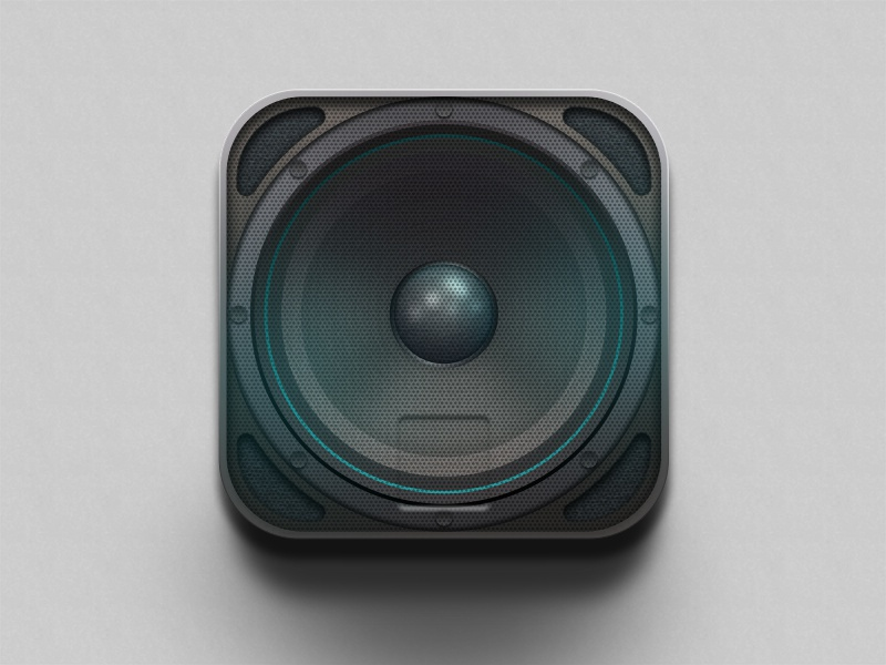 New Speaker Icon 2 icon ios speaker tech circle music sound