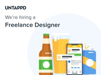 We're Hiring! beer css html untappd freelance freelance design hiring