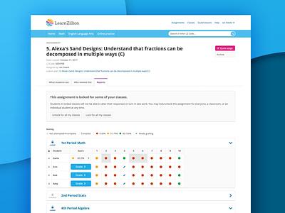 manualgrading bg ui design ui students classroom digital learning teachers ed-tech grading web design edtech