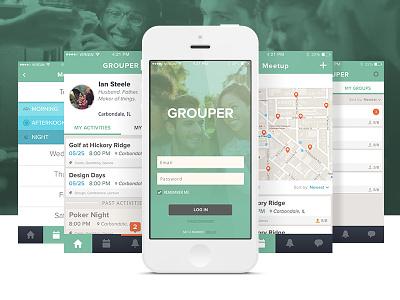 Grouper App Concept app ux ui location event group