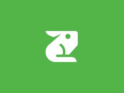 Rabbit minimalism minimal branding animal logomark geometric rabbit