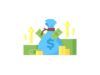 Increasing Revenue startup profit revenue money illustration vector